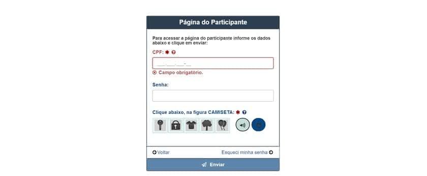46ed960179 Recuperar senha Enem - Página do Participante INEP