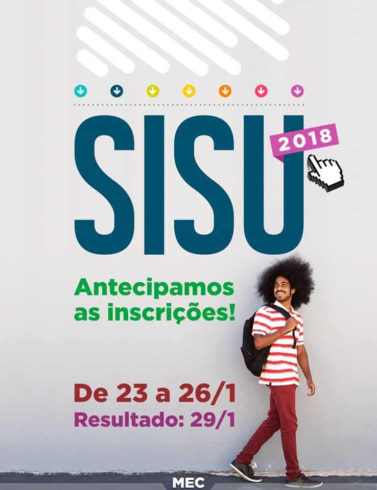 Inscrições Sisu 2018