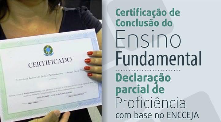 Certificado de Ensino Encceja