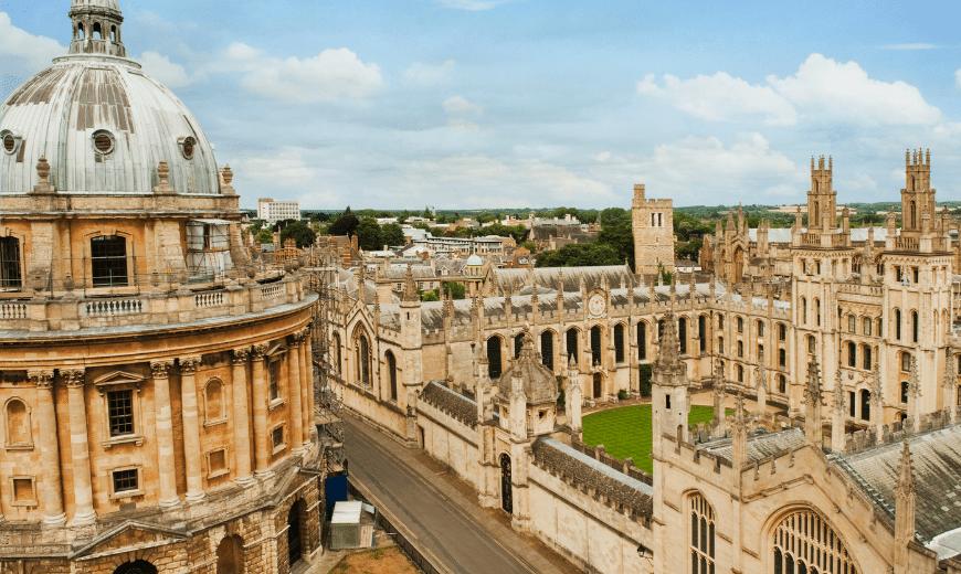 Usar a nota do Enem para estudar no exterior. Universidade de Oxford